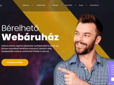 Bérelhető webáruház