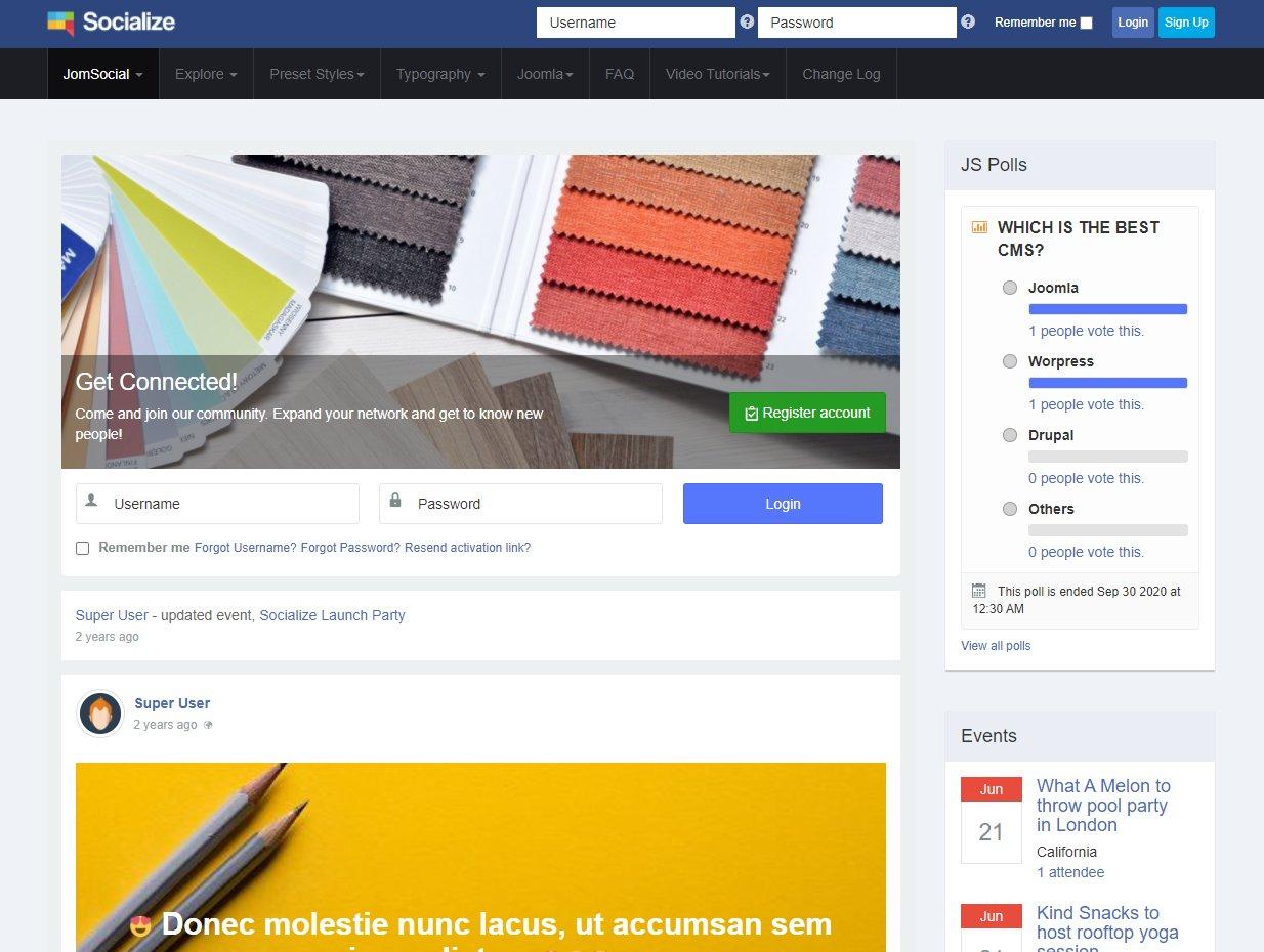 Népszerű közösségi oldal létrehozása