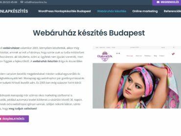 Prémium webshop, webáruház készítése