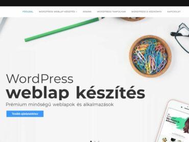 Népszerű WordPress weboldal készítés